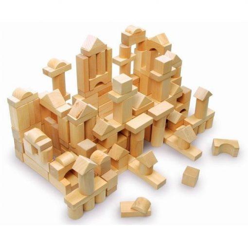 byggeklodser i træ