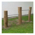 Kolbøtte stang med montageplade til træ eller metal