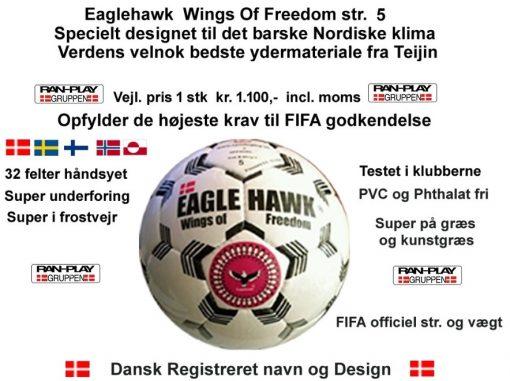 Fodbold til alt slags vejr. Fifa godkendt og opfylder alle slags krav. rigtig god i frost vejr.