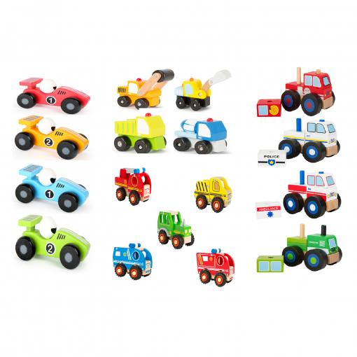 træ konstruktions biler